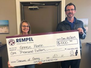 Rempel Insurance is happy to support Genesis House in Winkler, MB - Insurance Brokers Association of Manitoba